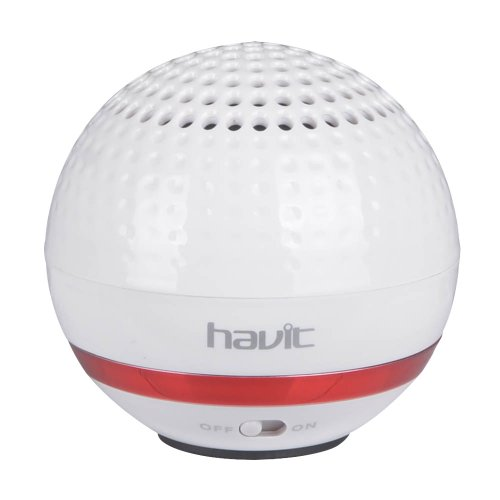 Havit® Hv-Sk132Bt Golf Model Portable Mini Wireless Bluetooth Speaker For Mobile Phone, Iphone 6 6 Plus, Ipad, Ipod, Mp3, Mp4, Smartphones, Tablets, Psp, Laptop, And Other Bluetooth Device (White) (Black Friday, Thanksgiving, Cyber Monday Special)
