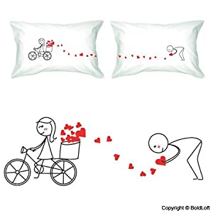 """BoldLoft """"All My Love for You"""" Couple Pillowcases-Cute Valentines Gifts,Valentines Pillowcases,Valentines Day Romantic Gifts,Unique Valentines Day Gifts"""