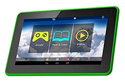 """Polaroid PTAB751GR 7"""" Kids Tablet Android 4.4 KitKat With Preloaded Disney Educational Apps, Games & Books"""