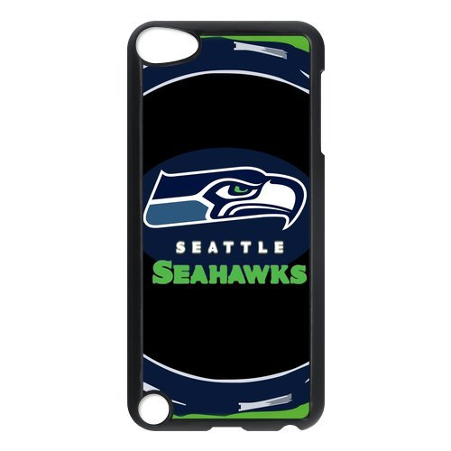 Custom NFL Seattle Seahawks Ipod Touch 5 Hard Cover Case Seahawks team logo-black&white at Amazon.com