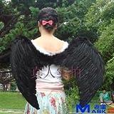天使の羽 vs悪魔の翼 vs 女神の羽 黒色 エンゼルウィング vs デビルウィング vs レディースゴッド ブラック Angel Wing vs. Devil Wing vs. Goddess Wing Black コスチューム 舞台衣装 モデル撮影 コスプレ etc. 大型デザインバッグ入り