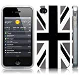 iPhone 4S / iPhone 4 'Cool Britannia Black' (Designed by Creative Eleven) TPU Gel Skin / Case / Cover -by Activ8 Distribution Ltd