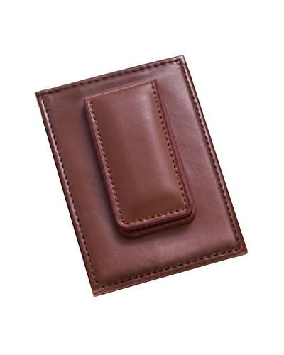 Bey-Berk Magnetic Money Clip & ID Wallet, Brown