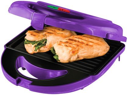 Big Boss 8870 7-Piece Grill Set With 3 Sets Of Non-Stick Cooking Plates, Purple