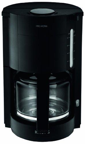 F30908 Krups ProAroma Glas-Kaffeemaschine, 10 Tassen, 1.050 W im modernen Design, schwarz