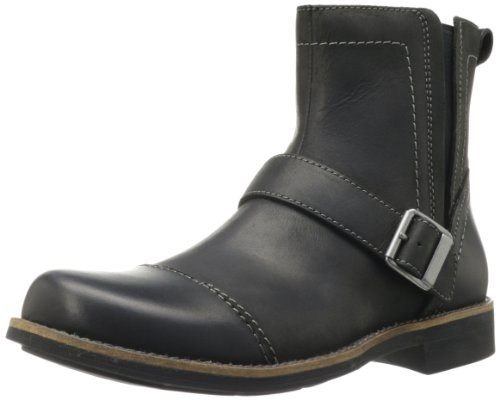 Clarks Men's Meldon Strap Boot,Black Leather,9 M US