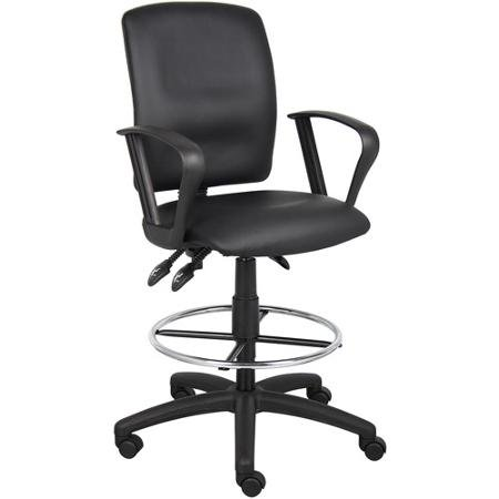 boss-office-products-multi-function-leatherplus-drafting-stool-with-arms-black