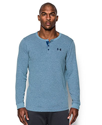 Under Armour Men's Waffle Henley, Heron (480), Small