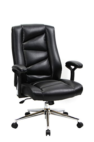 VIVA OFFICE Bonded Leather Thick Padded Office Executive Chair with Soft Spring Pack Padding (Office Chair Padding compare prices)
