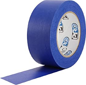 "ProTapes Pro Scenic 714 Crepe Paper 14 Day Easy Release Painters Masking Tape, 60 yds Length x 2"" Width, Blue (Pack of 1)"