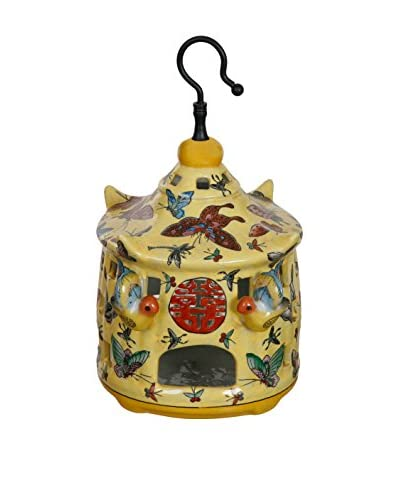 Winward Chinese Birdhouse, Yellow/Red