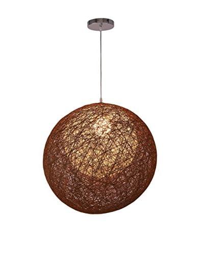 International Designs Osha 3-Shade Ceiling Light, Brown/Cream/White