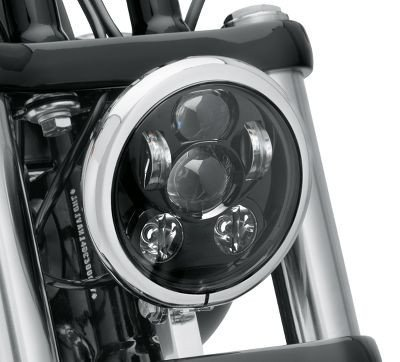 Wiipro 45W 9PCS LED Chips Black Chrome 5.75 Inch Round LED Projection Daymaker Headlight for Harley Davidson Dyna Motorcycles Lights (Black Harley Davidson Headlight compare prices)