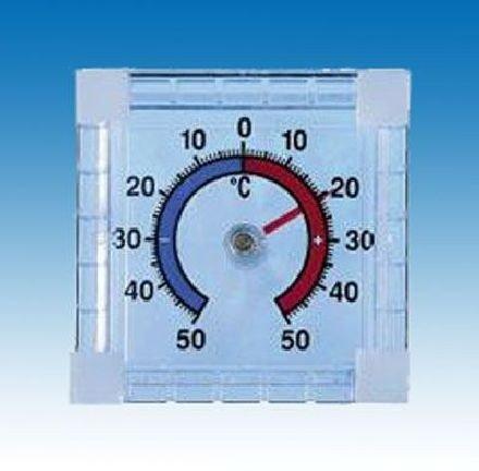 Thermometer, Außenthermometer Classic zur Fenstermontage (Scheibenmontage) 73 x 73 x 20 mm, F-25504