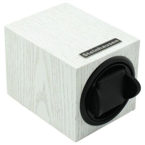 Steinhausen Tm1031Mwl Backstein 12-Mode Single White Wood Grain Watch Winder