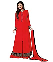 Designer Collection of Plazo Style Salwar Suit Spangel Fashion(Red Color_Free Size)