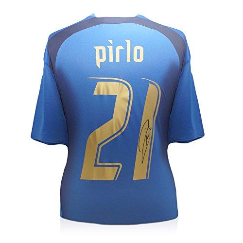 Andrea Pirlo Firmato Italia 2006 Coppa del Mondo di calcio Vincitori Camicia