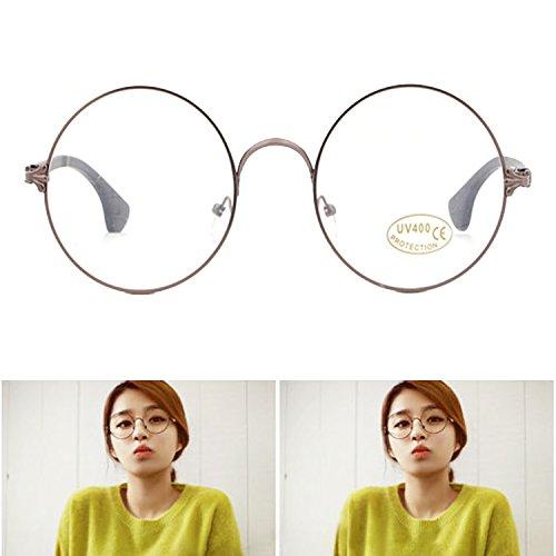 modische-vintage-metallrahmen-glaser-runden-kreis-brillen-ebenenspiegel-braun