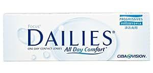 Focus Dailies Progressives Gleitsicht Tageslinsen weich, 30 Stück / BC 8.6 mm / DIA 13.8 / -0,25 Dioptrien