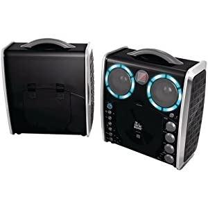 The Singing Machine Portable CD & Graphics Karaoke System Black
