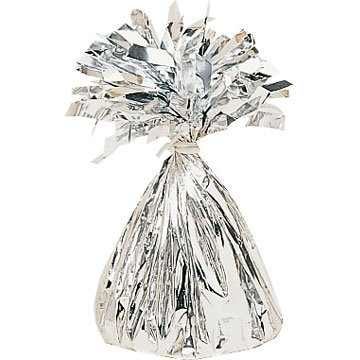 Silver Foil Balloon Weight 6 Oz
