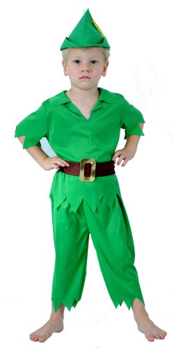 KIDS CHILDREN LIKE PETER PAN FANCYDRESS COSTUME OUTFIT (Peter Pan Toddler Costume compare prices)