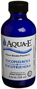 Aqua-E Water-Soluble Vitamin E with Tocopherols & Tocotrienols, 4 fl. oz (118 ml)