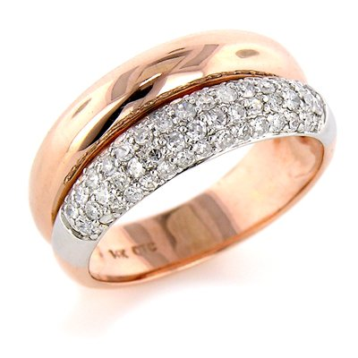14K Two Tone Gold 1/2ct Diamond Two in One Ring
