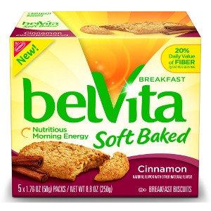 Nabisco, Belvita, Soft Baked, Cinnamon, 8.8oz Box (Pack of 4)