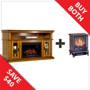 Classicflame Brookfield 26 Electric Fireplace In Premium Oak Duraflame 450 Stove 26mm2209