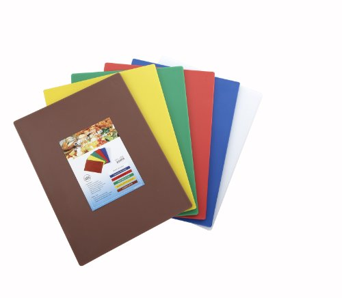 Winco CBST-1520 Cutting Board Set, 15-Inch by 20-Inch by 1/2-Inch, Assorted Colors