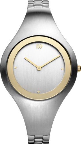 Danish Design IV65Q977 Stainless Steel Silver Dial Gold Tone Bezel Women's Watch