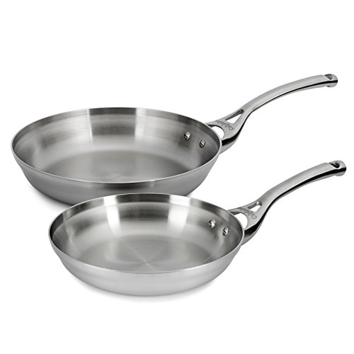 Calphalon Contemporary Stainless 8 & 10 Inch Fry Pan Set (Stainless Steel Fry Pan 10 compare prices)