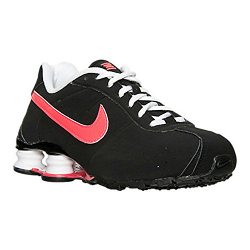 Girls' Grade School Nike Shox Classic Running Shoes 309711-061 Blk/Hyper Punch/White Size 4.0 Y (Classic Nike Shox compare prices)