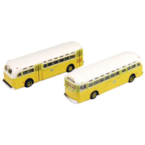 Classic Metal Works HO Scale GMC TD 3610 Transit Bus 2-Pack - National City Lines Destination Chicago