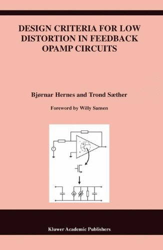 Design Criteria for Low Distortion in Feedback Opamp Circuits (The Springer International Series in Engineering and Comp