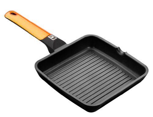BRA-Efficient-Orange-Grill-asador-con-rayas-aluminio-fundido-con-antiadherente-Teflon-Platinum-Plus
