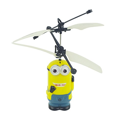 Walsoon RC503 Minion Despicable Me Flying Sensor Control Helicopter Light Gift Airplane (Double Eyes)