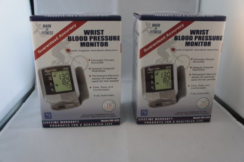 Image of MARK OF FITNESS WS-820 WRIST BLOOD PRESSURE MONITOR (Pack of 2) (B00726C3RI)