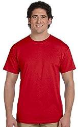 Gildan Men's Seamless Double Needle T-Shirt, Cherry Red