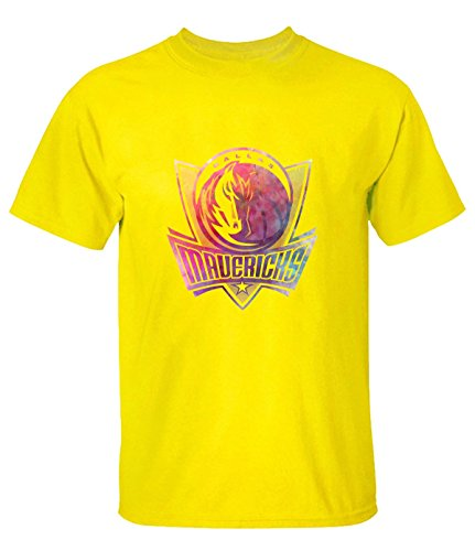 A11 Dallas Mavericks Watercolor Art Funny Tee for Men L yellow (Lakers Cheerleading Outfit)