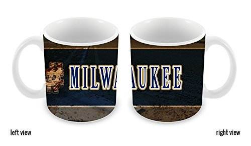 BleuReign(TM) Hashtag Milwaukee #Milwaukee Baseball Team 11oz Ceramic Coffee Mug
