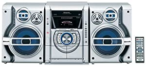 Panasonic SC-AK330S Nitrix Series 5-CD Mini System, Silver