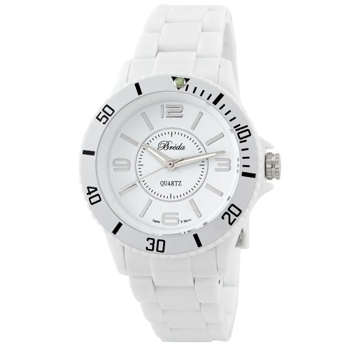 "Breda Women's 2176_white ""Olivia"" Sport Plastic Watch"