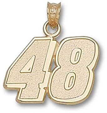 Jimmie Johnson Large Driver Number 48 5 8 Pendant - 14KT Gold Jewelry by Logo Art