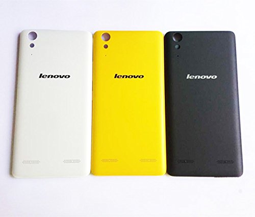 100% New Durable Battery Housing Panel Back Cover Case For Lenovo A6000 & A6000 Plus - Yellow