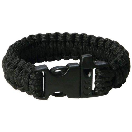 "Maxam 9"" Black Paracord Bracelet - 1"