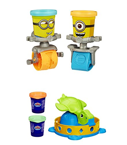 Play-Doh-Featuring-Despicable-Me-Minions-Stamp-and-Roll-Set-Plus-Play-Doh-Twist-n-Squish-Turtle-Playset-Bundle