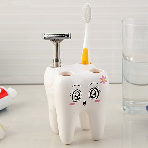 GreenSun(TM) Cartoon Toothbrush Holder,Teeth Style 4 Hole Stand Tooth Brush Shelf Bathroom Accessories Sets,Bracket Container For Bathroom (Fire Truck Toothbrush Holder compare prices)