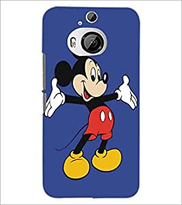 PrintDhaba Mickey Mouse D-5404 Back Case Cover for HTC ONE M9 PLUS (Multi-Coloured)